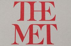 """New York's """"Metropolitan Museum of Art"""":http://www.metmuseum.org has launched a new logo designed by London-based Wolff Olins, which will be rolled out from 1 March 2016. The new look, which sees the museum name shortened to """"The Met"""" in scarlet capitals, hopes to """"feel more available and accessible to first-time as well as frequent visitors."""""""