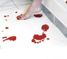 The carpet will turn red while touching the water.