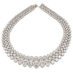 HARRY WINSTON Diamond Necklace   From a unique collection of vintage more necklaces at http://www.1stdibs.com/jewelry/necklaces/more-necklaces/