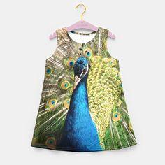Peacock Girl's Summer Dress