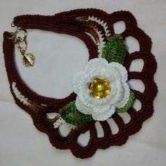 Criação de Sônia Moresco  #colar #artesanal #crochet