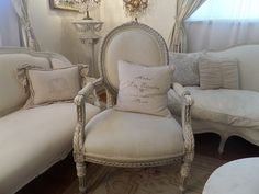 Layaway For Marcia Balance due $395.00.Stunning Antique French Louis painted arm chair with beautiful ornate roses carvings and French detaiing.C