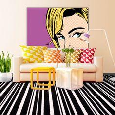 Pop Art Striped Carpet | Buy Pop Art Striped Carpets Online | Online Carpets.co.uk