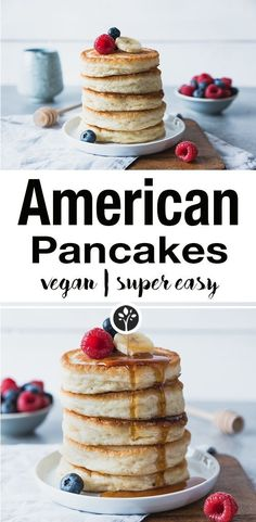 Super fluffy and vegan American pancakes.nataschakimbe … // Super fluffy and vegan American pancakes. Vegan Breakfast Recipes, Vegan Recipes, Drink Recipes, Vegan Snacks, Cooking Recipes, Pancakes Végétaliens, Best Vegan Pancakes, Chocolate Pancakes, Chocolate Pastry