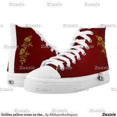 Cute Shoes, On Shoes, Custom Sneakers, Red Background, Coat Of Arms, Converse Chuck Taylor, Trendy Fashion, High Tops, High Top Sneakers