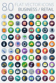 Flat Vector Icons for Business