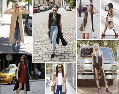 Principais tendências para a Primavera Verão 2017: Slip Dress, Top Bardot, Gargantilha, Maxi Calças, Colete e Vestido Avental no vestuário feminino desse verão!
