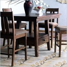 Counter Height Dining Table | Furniture and Design Ideas Counter Height Dining Table, Table Furniture, Tables, Decorating Ideas, Design Ideas, Kitchen, House, Home Decor, Mesas