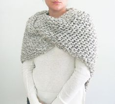 Bring Claires Highland fashions into the modern world with this hand knit shawl inspired by Outlander. This piece is perfect for cool evenings spent outside, sitting round the fire with friends. Take it camping or to the lake house. Throw it over your shoulders as a shawl, or wear it like a chunky triangle scarf.  This shawl is made double thick to achieve that ultra chunky look and texture. The material is a washable lambswool/acrylic yarn, which makes this piece very wearable and easy to…