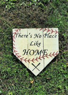 There's No Place Like Home Baseball Pallet Sign in Home & Garden, Home Décor, Plaques & Signs | eBay
