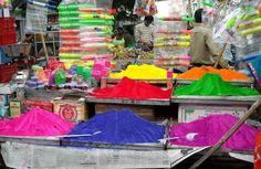 Happy Holi! Holi colors and pichkaris