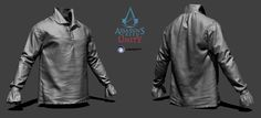 http://www.artstation.com/artwork/assassin-s-creed-unity-arno-shirt-zbrush