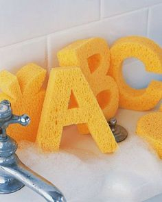I really love this cute little alphabet sponges for the bath - cute,stylish, fun and educational - perfect for toddlers
