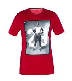 JORDAN Michael Jordan graphic tee Short sleeves Crew neck with ribbed collar Cotton for comfort Solid red back JORDAN graphic on front