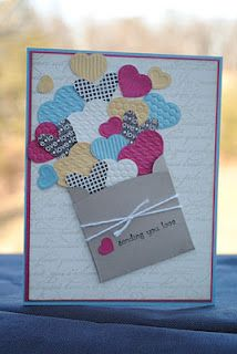 Sending Love by MarlaR - Cards and Paper Crafts at Splitcoaststampers kartendiy Handmade Birthday Cards, Greeting Cards Handmade, Valentine Day Cards, Holiday Cards, Valentines Card Design, Karten Diy, Love Cards, Creative Cards, Anniversary Cards