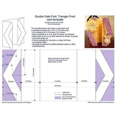 Double Gate Fold, Triangle Front Card Template - Photo