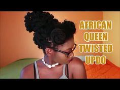 AFRICAN QUEEN TWISTED LOC UPDO