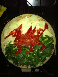 St David's day theme food for school competition welsh flag pizza