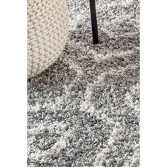 nuLOOM Soft and Plush Keyhole Trellis Shag Dark Grey Rug (8' x 10') - Free Shipping Today - Overstock.com - 17681899 - Mobile