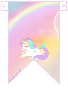 Seguimos compartiendo en el sitio los más bonitos Imprimibles de cumpleaños para descargar gratis. En esta oportunidad la temática publicada es de Unicornios, con un hermosoKit Imprimible para edi… Birthday Flags, Unicorn Birthday Parties, Unicorn Party, Birthday Party Invitations, My Little Pony Party, Unicorn Printables, Party Printables, Flag Banners, Rainbow Unicorn