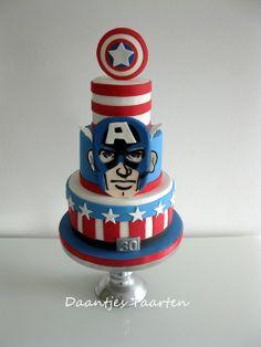 Captain America - by Daantje @ CakesDecor.com - cake decorating website