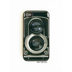 On Your Case Inc Vintage Twin Reflex Camera - iPhone 4 Case ($22) ❤ liked on Polyvore featuring accessories, tech accessories, phone cases, phones, celulares, camera, black, iphone case, iphone lens case and vintage iphone case