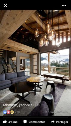 Mountain Cabin Living, but I wouldn't have this furniture to stuffy for me. Chalet Design, House Design, Chalet Style, Design Hotel, Beautiful Interior Design, Beautiful Interiors, Chalet Modern, Modern Cabins, Chalet Interior