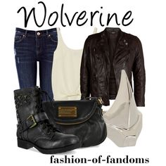 Wolverine by fofandoms on Polyvore featuring Elizabeth and James, VIPARO, Oasis, Marc by Marc Jacobs and Dominic Jones