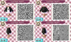 Animal Crossing New Leaf QR Codes: Leather Jacket w/ White T-Shirt  Cross Necklace (unisex)