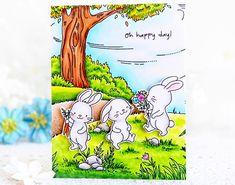 My Joyful Moments: Hello Bluebird: Meadow Bunnies Simple Bird Drawing, Blue Bird Art, Love Birds Painting, Lawn Fawn Blog, Embossed Cards, Scrapbook Cards, Scrapbooking, Bird Drawings, Cool Cards