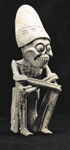 "Mictlantecuhtli ( from the Nahuatl 'Lord of the underworld', derived from tecuh-tli ""sir"" and Mictlan ""place of the Dead"") is the Aztec, Zapotec and Mixtec God of the underworld and the dead of the ancient México."