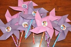 Dora the Explorer Inspired Pixie Stix Pinwheel Party Favors Set of 10