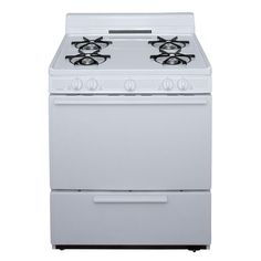 Premier 4 Burners ft Freestanding Gas Range (White) (Common: Actual: at Lowe's. This 30 in. battery operated gas range with a full 25 in. wide oven, an easy access broiler drawer with drop door and four BTU top burners make Cleaning Oven Racks, Self Cleaning Ovens, Oven Burner, Food Temperatures, Single Oven, White Appliances, Kitchen Appliances, Gas Oven, Range Cooker