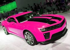 Pink Chevy Camaro ☆ Girly Cars for Female Drivers! Love Pink Cars ♥ It's the dream car for every girl ALL THINGS PINK #chevy #camaro #pink