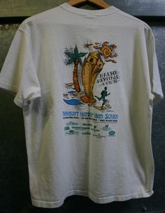 Size Large Newport Harbor High School 5K Run Dated 1998, Cool SoCal Heart Of The OC Tee, Soft!