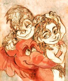 Tarzan, Terk and Tantor by MistyTang.deviantart.com on @deviantART