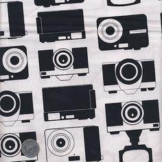 1 Yard : Boy Toys Cameras APP-13358-2  Black Novelty Robert Kaufman Designer Quilt Cotton Fabric on Etsy, $8.99