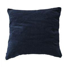 Samettinen tyynynpäällinen 50x50 cm, tummansininen