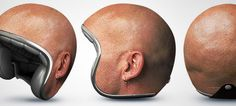 Many of us see Motorcycle Helmet Designs as boring and uninspiring, they're often a single color and lack and type of design. you'll need to scour the web to find some decent looking helmet designs that will make people look twice! Harley Davidson, Motorcycle Helmet Design, Bike Helmets, Motorcycle Gear, Funny Motorcycle, Snowboard Design, Helmet Head, Original Design, Bald Heads