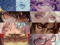 Digital Painting Tutorials, Digital Art Tutorial, Art Tutorials, Art Sketches, Art Drawings, Anime Eyes, Eye Art, Art Reference Poses, Art Studies