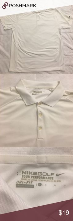 Nike Golf Tour Performance Dri-Fit Shirt (Large) White Nike Golf Shirt. Lightly worn. In great condition. Nike Shirts Polos