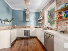 Kitchen Island, Kitchen Cabinets, Rustic Contemporary, Home Decor, Island Kitchen, Decoration Home, Room Decor, Cabinets, Rustic Modern