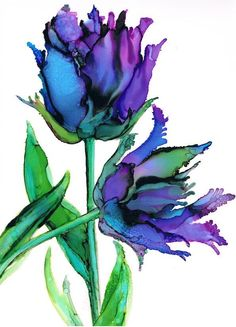 Tulip Watercolor (Idea) #watercolorarts