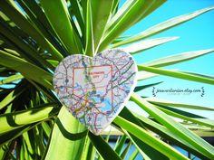 Valentine's Day Custom Map Heart keepsake by JessVartanian on Etsy