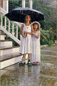 Rain……..HEY YOU TWO--YOU LOST YOUR OTHER BUDDY……HER MOTHER CALLED HER TO GET RIGHT HOME----N O W----ccp