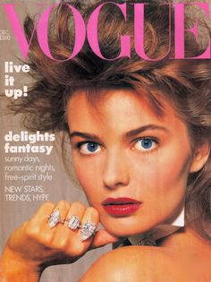 Paulina  -  Vogue Dec 1986 by Richard Avedon
