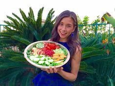 My Favorite Salad! (Low Fat, Raw Vegan) Mi Ensalada Favorita! (Baja en Grasa, Crudivegana)