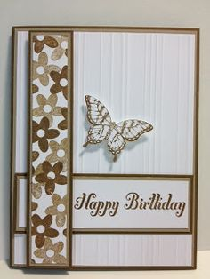 Papillon Potpourri  Spring Sampler Birthday Card  Stampin' Up! Rubber Stamping