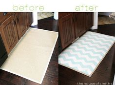 Paint inexpensive area rugs to liven up any room. | 27 Cheap Ways To Upgrade Your Home