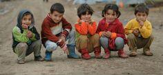 Syrian refugee children at Domiz camp, Iraq